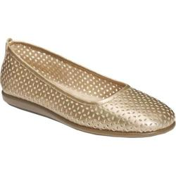 Women's A2 by Aerosoles Solsa Dance Gold Metallic Faux Leather