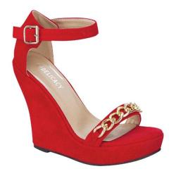 Women's Wild Diva Sophie-72 Red Faux Suede