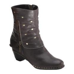 Women's Antia Shoes Rita Black Vintage Full Grain/Cow Suede