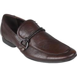Men's Oxford & Finch Almond Toe Slip-on Loafers Brown