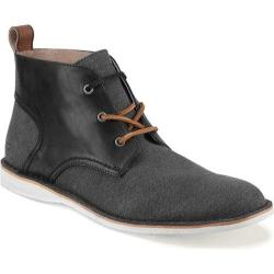 Men's Andrew Marc Dorchester Chukka Black/White/Cymbal Leather