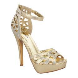 Women's Wild Diva Ivetta-22 Gold Faux Leather