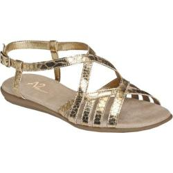 Women's A2 by Aerosoles Exchlaim Gold Snake Printed Faux Leather
