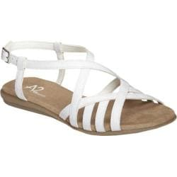 Women's A2 by Aerosoles Exchlaim White Faux Patent