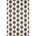 nuLOOM Hand-hooked Lattice Trellis Grey Rug (7'6 x 9'6)