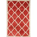 nuLOOM Abstract Handmade Marrakesh Moroccan Trellis Wool Rug (5' x 8')