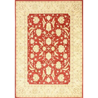 nuLOOM Traditional Ziegler Mahal Red Rug (5'3 x 7'7)
