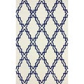 nuLOOM Handmade Marrakesh Lattice Trellis Ivory Wool Rug (7'6 x 9'6)