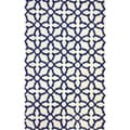 nuLOOM Handmade New Zealand Wool Marrakesh Moroccan Trellis Navy (7'6 x 9'6)
