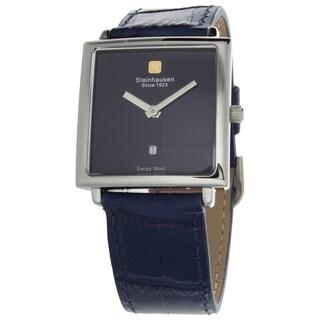Steinhausen Women's Artiste Swiss Watch with Blue Brass Dial, Silver Hands and Blue Strap
