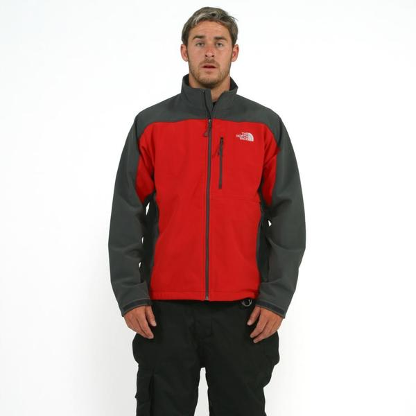 The North Face Men's 'Apex Bionic' Red/ Asphalt Grey Softshell Jacket