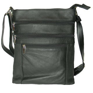 Hollywood Tag Leather iPad Messenger Bag with Adjustable Strap