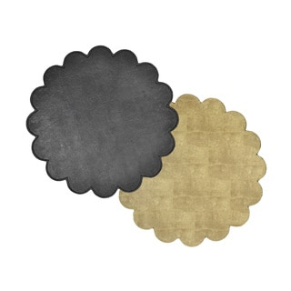 Reversible Faux Leather Snakeskin Black/Tan Placemats (Set of 2)