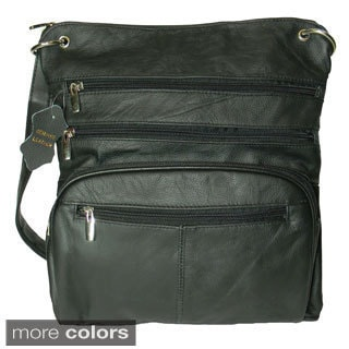 Hollywood Tag Leather iPad Messenger Bag
