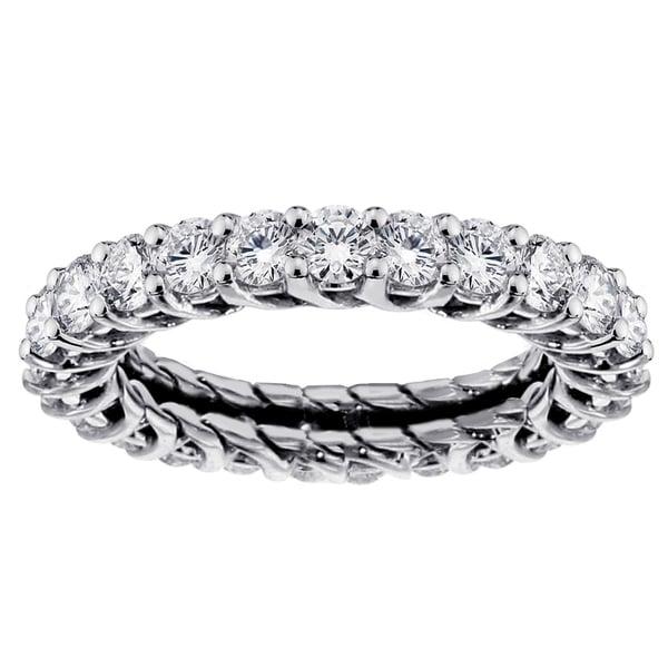 14k/18k Gold or Platinum 2 1/5ct TDW Diamond Eternity Wedding Band
