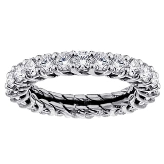 14k/18k Gold or Platinum 2 1/5ct TDW Diamond Eternity Wedding Band
