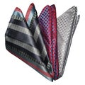 Dmitry Men's Multicolor Patterned Italian Silk Pocket Squares (Pack of 3)