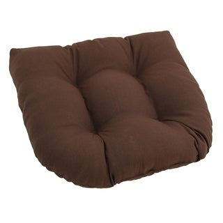 Blazing Needles Neutral 19-inch U-Shaped Tufted Twill Chair Cushion