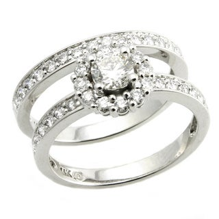 Beverly Hills Charm 14K White Gold 1ct TDW 2-piece Diamond Ring Set (H-I, SI2-I1)