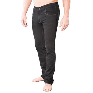 V.I.P. Collection Men's Slim and Stretch Black Jeans