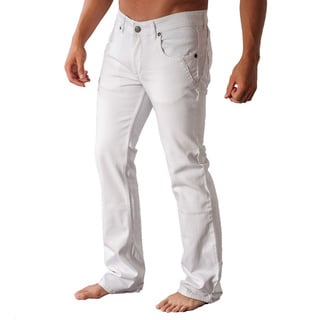 V.I.P. Collection Men's White Slim and Stretch Jeans