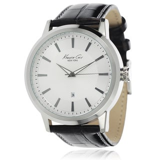 Kenneth Cole Men's Stainless Steel Leather Band Watch