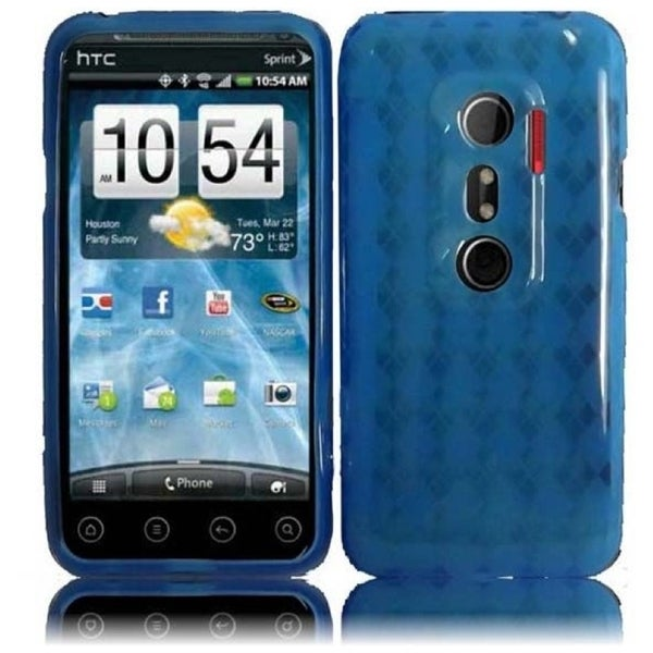 INSTEN TPU Phone Case Cover for HTC Evo 3D/ HTC Evo V 4G