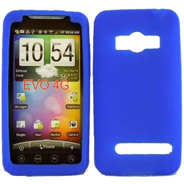 INSTEN Soft Silicone Phone Case Cover for HTC Evo 4G