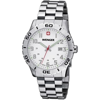 Wenger Men's Grenadier White Dial Stainless Steel Watch