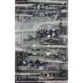 nuLOOM Handmade Vintage Inspired Transitional Wool/ Viscose Black Rug (8' x 10')