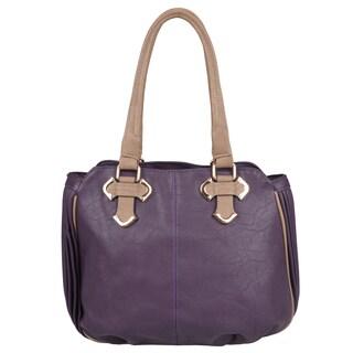 Journee Collection Womens Pleated Double Handle Hobo Bag