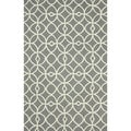 nuLOOM Handmade Modern Circle Lattice Trellis Grey Rug (7'6 x 9'6)