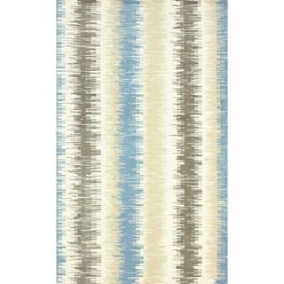 nuLOOM Modern Microfiber Ombre Stripes Blue Rug (7'6 x 9'6)