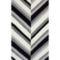 nulOOM Handmade Stripes Grey Rug (7'6 x 9'6)