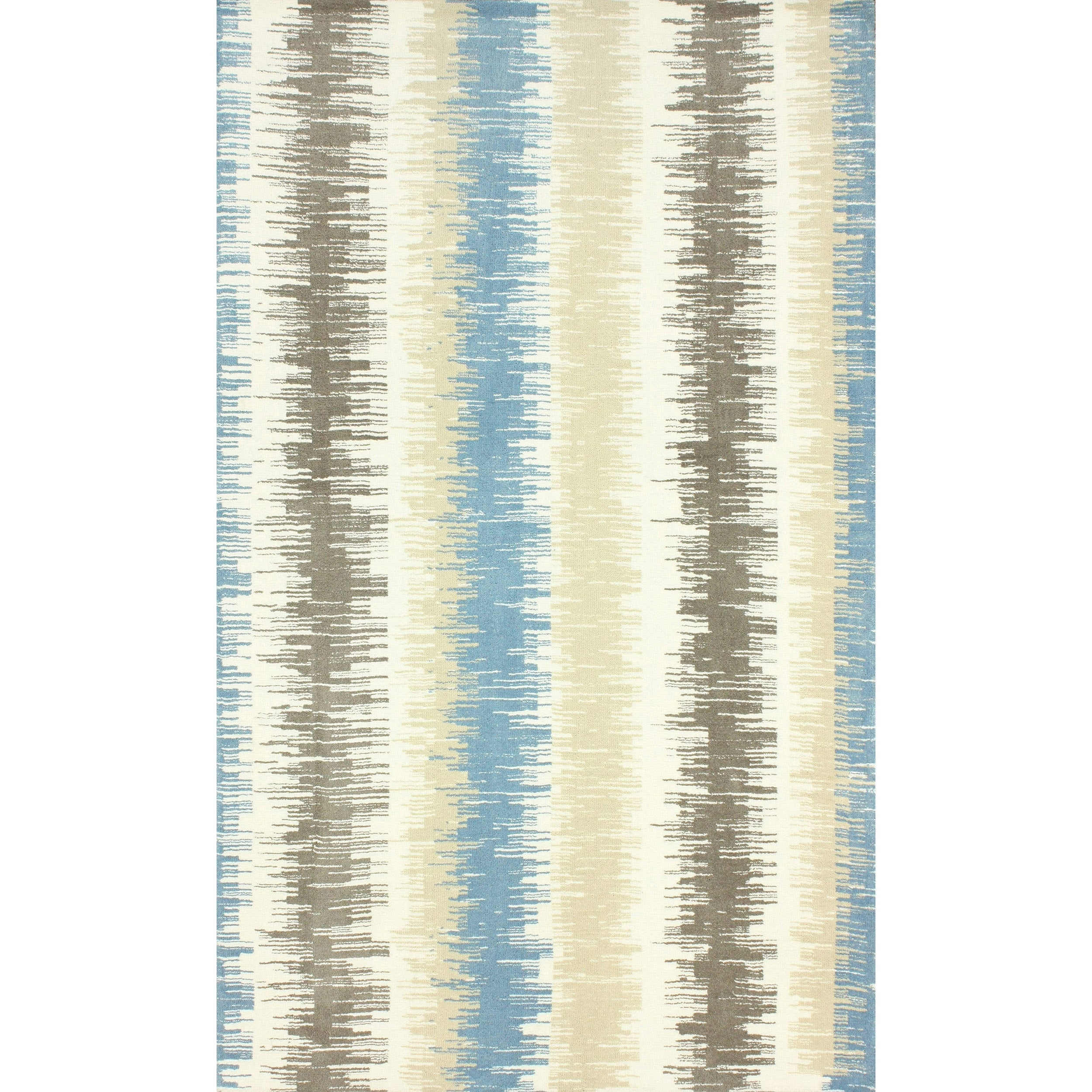 nuLOOM Modern Microfiber Ombre Stripes Blue Rug (5' x 8') at Sears.com