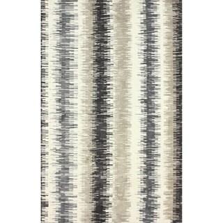nuLOOM Modern Microfiber Ombre Stripes Grey Rug (5' x 8')