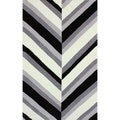 nulOOM Handmade Stripes Grey Rug (5' x 8')