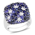 Miadora Sterling Silver 4ct TGW Blue Sapphire Cocktail Ring