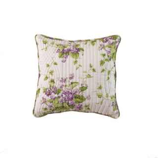 Waverly Sweet Violets 20-inch Quilted Accent Pillow