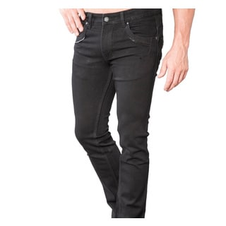 V.I.P. Collection Men's Black Slim and Stretch Jeans