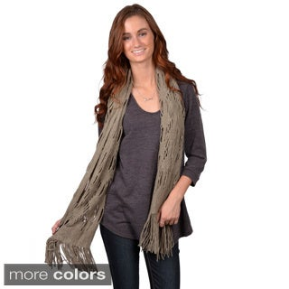 Journee Collection Women's Fashion Fringe 68-Inch Scarf
