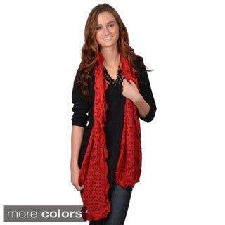 Journee Collection Women's Ruffled Knit Scarf