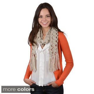 Journee Collection Women's Fringe Knit Scarf