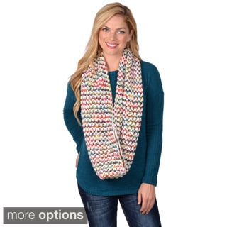 Journee Collection Women's Multi-Colored Knit Infinity Scarf