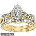 Cambridge 14k Gold 1/4ct TDW Marquise Shape Diamond Bridal Set (I-J, I1-I2)