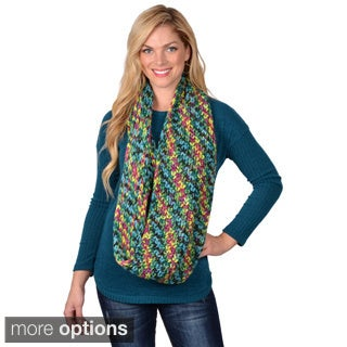 Journee Collection Women's Multicolor Knit Infinity Scarf