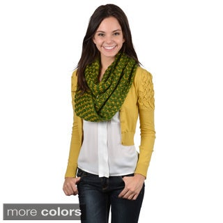 Journee Collection Women's Two-tone Zig Zag Print Infinity Scarf