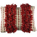 Hand Woven Down Filled Decorative Throw Pillow