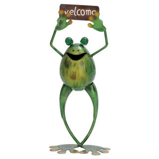 Metal Welcome Frog Statue