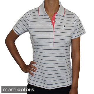 Women's Luxe Jersey Nautical Striped Polo